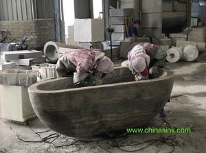 huian lady polish stone tub