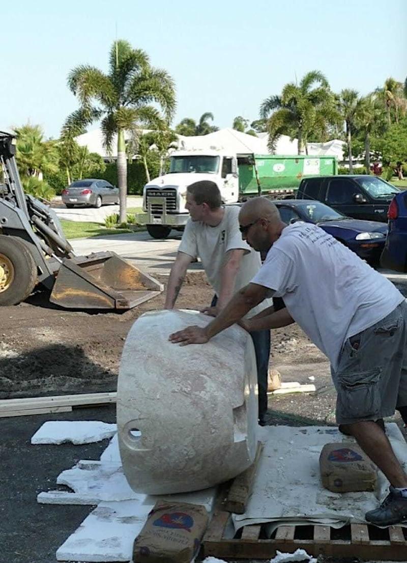 move stone tub