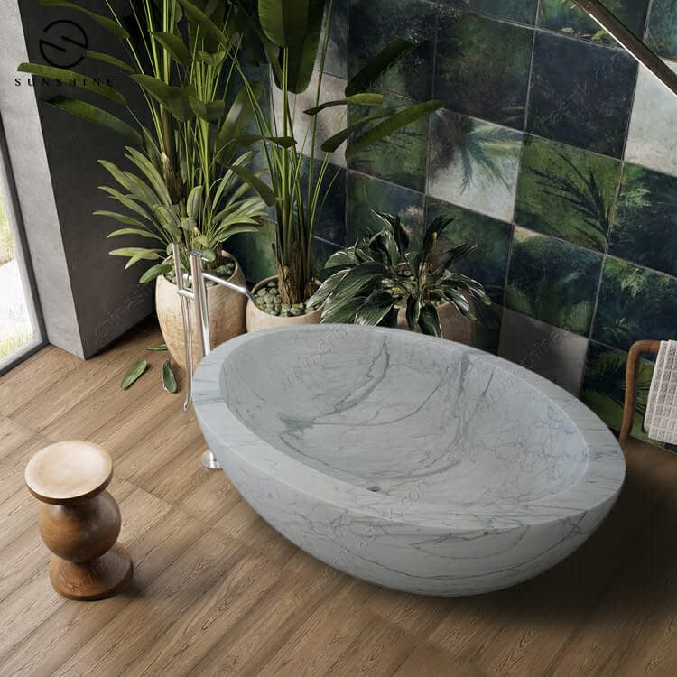 white marble bathtubs